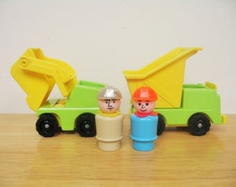 Fisher Price Construction Trucks with Men