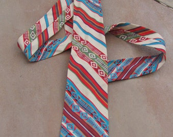 Cotton Necktie - Southwestern motif SHI EE Fashioned by E Tsinni jinnie