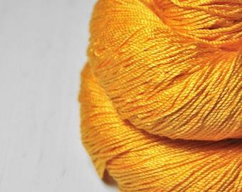 Stale tangerine lemonade  - Cordonnette Silk Fingering Yarn