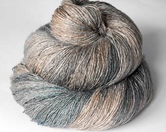 Into the Wild OOAK - Tussah Silk Lace Yarn