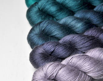 Serendipity - Gradient of Silk/Cashmere Lace Yarn