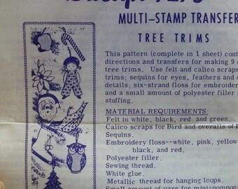 Vintage Sewn Ornaments pattern Design number 7275
