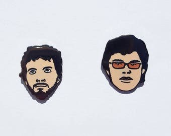 Flight of The Conchords Bret and Jermaine Pin Set