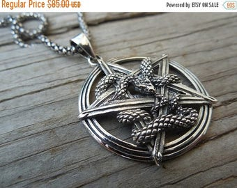ON SALE Snake necklace handmade in sterling silver