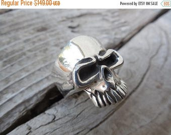 ON SALE The punisher skull ring in sterling silver