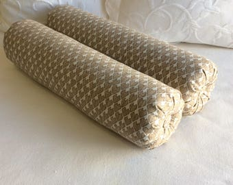 PAIR DIEGO bolster pillows 6x22 in Camel