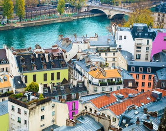 Paris Photo, France, French decor, World Travel, wall art, Cityscape, Travel Photography, Country French decor, wanderlust, Colorful Art