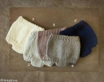 Newborn Shorts, Baby Pants, Newborn Props, Baby Props, Gray,Brown Pants, RTS, Natural Props, Baby Boy, Baby Girl