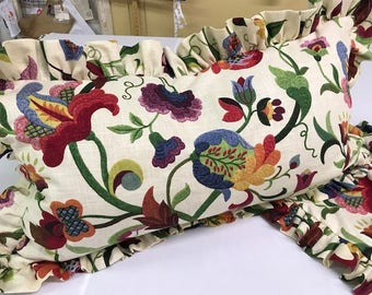 Sewing Service using Your Fabric--King Gathered Bed Skirt -Lined Bed Skirt- Split Corners and Kick Pleats-Pair of King Ruffled Pillow Shams