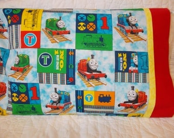 Thomas the Train Childrens or Travel  Pillow Case