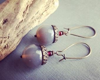 CHALCEDONY EARRINGS,Dangle earrings, statement earrings,elongated