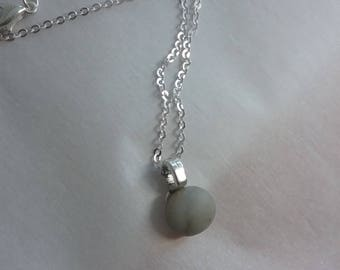 Pebble Silver Necklace FREE SHIP