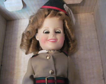 Vintage Ideal Shirley Temple Little Soldier Doll