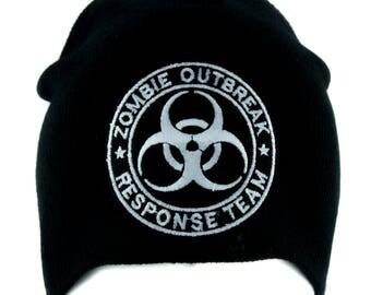 Black Zombie Outbreak Response Team Bio Hazard Beanie Hat - DYS-PA-243-BLK-Beanie