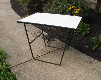 Mid Century Modern Iron Formica side table