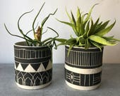 B L A C K S T O N E : set of ceramic planters