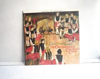Christmas Songs Obernkirchen Childrens Choir Vinyl LP 1960s Angel S35914