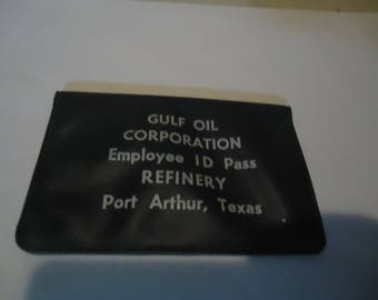 Vintage Gulf Employee Id Pass Refinery Port Arthur Texas, collectable