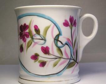 An Antique Porcelain HP Shaving Mug A1