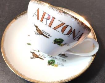 Vintage Arizona Souvenir Tea Cup and Saucer