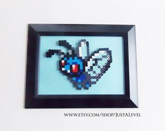 Butterfree (Pokemon) Framed Pixel Sprite Room Decoration Art *Clearance*