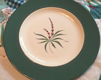 Vintage Dinner Plate Lupine CV14 Eggshell Cavalier Homer Laughlin Made in The USA #4180