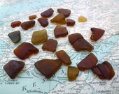 Irish sea glass pieces Brown Seaglass Pieces Sea Tumbled Glass from Ireland