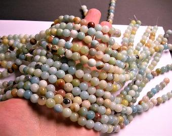 Amazonite - 8 mm round beads -1 full strand - 49 beads - RFG169