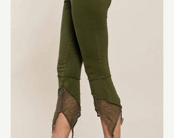 BIG SUMMER SALE 25% Off Leggings - Pointy Pixie leggings - burning man - Perfect Yoga Pants - Fairy Tights - women clothing