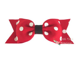 Baby Girl Minnie Mouse Bows, Disney Hair Bows, Hair Accessories, Minnie Hair Clip, Minnie Hair Bow, Minnie Mouse Hairbows, Minnie Bows