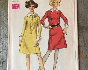 Vintage Simplicity Sewing Pattern 7896 Misses' Dress Size 14