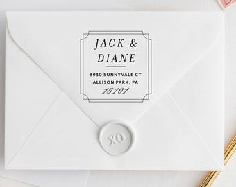 Self-Inking Address Stamp, SQAURE STAMP, Round Address Stamp, Personalized Address Stamp, Custom Address Stamp, Modern Stamp