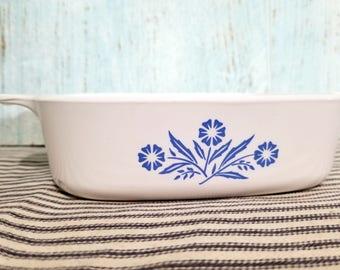 Vintage Corning Ware Blue Cornflower 1 Liter Baking Casserole Dish, Corningware Corn Flower