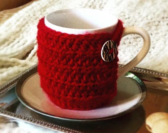 CROCHET PATTERN - Coffee Cup Cozy - Coffee Accessories