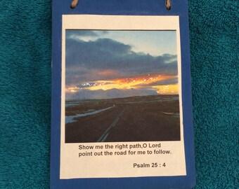 Inspirational Christian Bible Verse Sign - Plaque