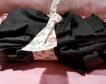 Antique Fabric Victorian Skirt Lining Remnant Lot