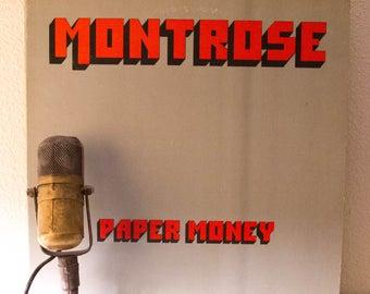 "Montrose (with Sammy Hagar) Vinyl Record Album ""Paper Money"" (Original 1974 WB Records with ""I Got the Fire"" & ""Spaceage Sacrifice"")"