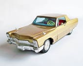 Bandai 1968 Cadillac Coupe de Ville Toy Car, Friction Toy, Tin Toy, Collectible Toy