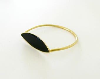 Inclusion Bracelet-Brass Modern Bangle-Modern Bangle-Resin Brass Bangle-Handcrafted Jewelry-Modern Greek Jewelry-Resin Modern Bangle
