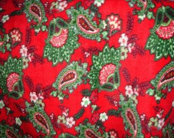 Paisley Holiday Fleece Throw