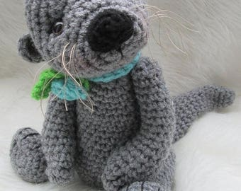 Summer Sale Crochet Pattern Cute Otter by Teri Crews Wool and Whims Instant Download PDF Format Crochet Toy Pattern
