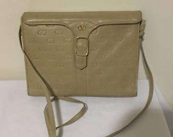 Vintage Valentino Beige leather Bag Purse
