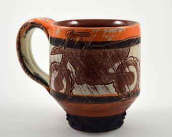 Dirt Bike Coffee Mug/ Coffee Mug/ Coffee Cup/ Motorcycle Coffee Mug/ Coffee Cup with Motorcycle/ Custom Coffee Mug/ Motocross Coffee Cup