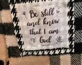 Plaid Burberry Style Scripture Scarf