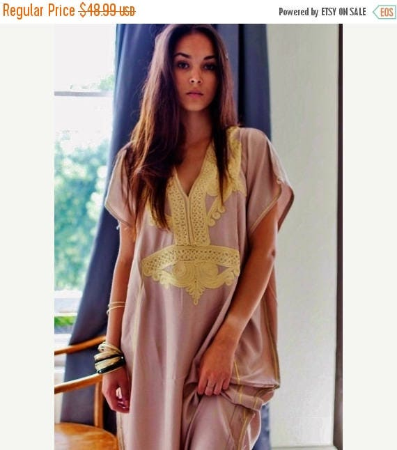 25% OFF Autumn Sale// Bohemian Kaftan Beige Marrakech Resort Caftan Kaftan -beach cover ups, resortwear,maxi dresses, birthdays, honeymoon,