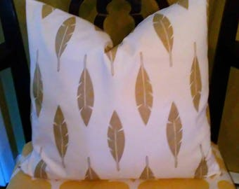 Our Best Seller Metallic  Gold Feathers Pillow Cover-Housewares-Home Decor All Sizes