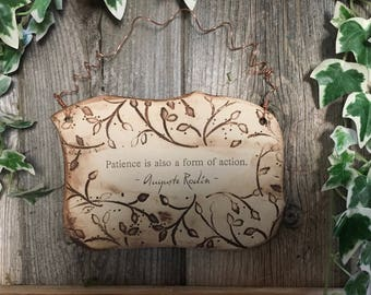 Handmade August Rodin Quote Ceramic Plaque