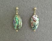 Abalone Shell Drop Earrings with 14K Gold-Filled Beads