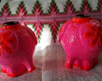 Cutie Hallmark paper mache mid century pink