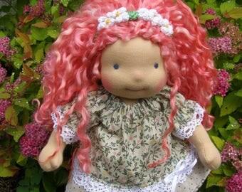 Amaya - Sitting style Waldorf Inspired Doll , 10 inch